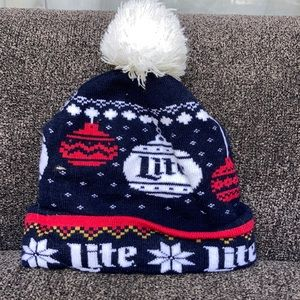 Miller Lite Christmas UGLY Sweater Beanie
